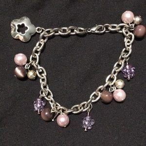 Vintage Silver & Purple Bracelet